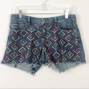 Artisan De Lux | Embroidered Geometric Shorts
